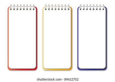 Vertical Notebook Vector