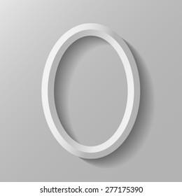 Vertical oval frame.