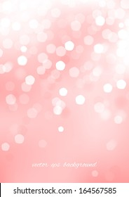 Vertical pink blurred background with graphic elements. Vector version.