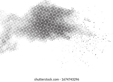 Vertical polka dots. Halftone wave background. Curved gradient texture or pattern. Pop art texture. Vector illustration Eps 10.