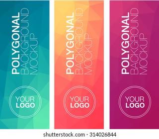Vertical  polygonal banners