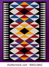 Vertical PyramidsTheme Middle Eastern Traditional Weaving