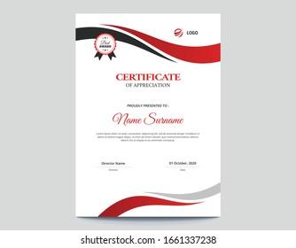 Certificado de onda vertical roja y negra