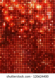 Vertical red  mosaic