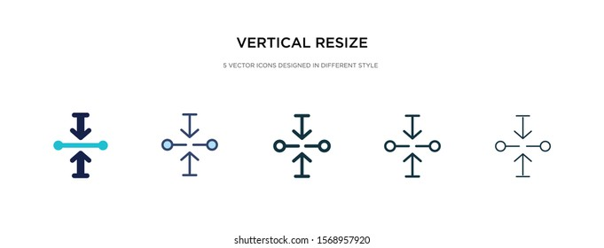 vertical resize icon in different style vector illustration. two colored and black vertical resize vector icons designed in filled, outline, line and stroke style can be used for web, mobile, ui