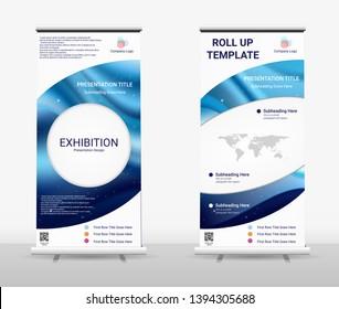Vertical Roll Up Banner - Signboard Brochure Advertising Flyer Template X-banner