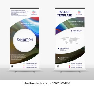 Vertical Roll Up Banner - Signboard Brochure Advertising Flyer Template X-banner