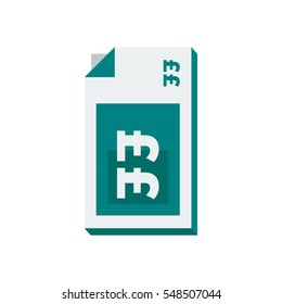 A vertical stack of british bank notes cash vector illustration icon