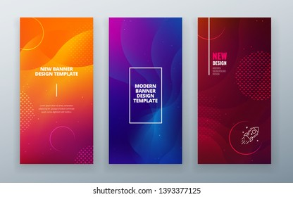 Vertical stories sale banner background for social networks. Colorful halftone gradients.background modern template design for web. Cool gradients. Future geometric patterns.