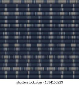 Vertical Stripe Variegated Texture Background. Denim Gray Blue Blended Line Seamless Pattern. Masculine Shirting, Bleach Faded Dye Textile. For Trendy Triblend Melange All Over Print. Vector Eps 10