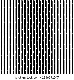 Vertical stripes cuts outs pattern vector. Design cactus black on white background. Design print for textile, fashion, fabric, texture, wallpaper, background. Set 2