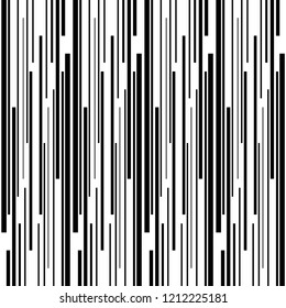 Vertical stripes random pattern vector. Design lines black on white background. Design print for textile, wallpaper, background. Set 1