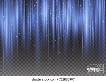 Vertical Undulating Pulsing Rays. Vector Abstract Background of Aurora Borealis Light Effect Colorful Purple and Violet Shining Waves Decorative Design. Rainbow Coil Imitation. Polar Glow Flare.