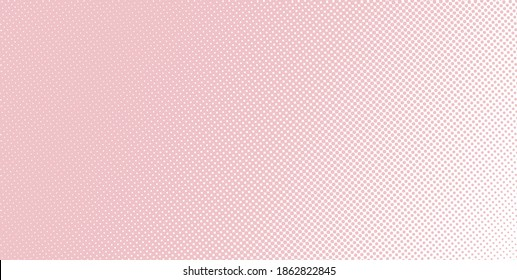 Vertical vector gradient deep baby girl pink comic pop-art halftone background template, texture. Vector illustration Geometric vintage monochrome fade wallpaper. Pop art print. Dotted retro pattern.