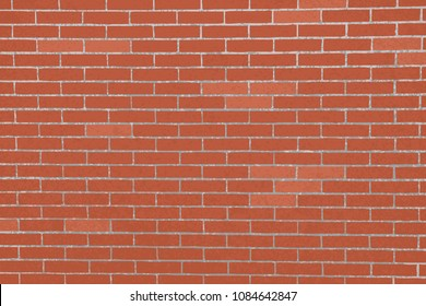 vertical vector realistic red brick wall background. rectangular format