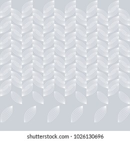 Vertical vines of white leaves on gray