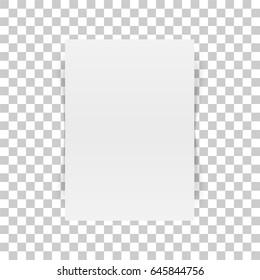 Vertical white Paper Document Mockup