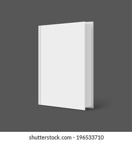 Vertically standing template books on a gray background. Vector illustration.