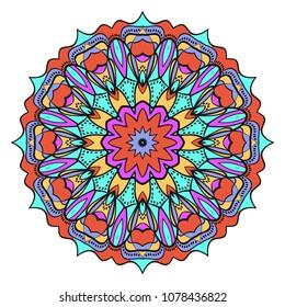Very beautiful flower mandala. decorative vector. gold, black color. vector illustration.
