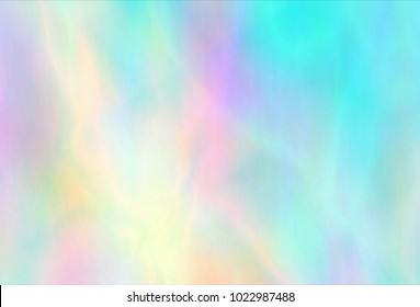 Very beautiful rainbow texture. Hologram Foil. Wonderful magic background. Fantasy colorful card. Iridescent art.