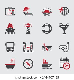 Very cute summer travel icons