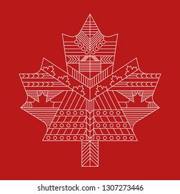 A very detailed Canadian maple leaf design.