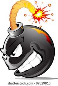 Very evil cartoon bomb ready to explode!