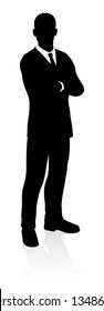 A very high quality business person silhouette