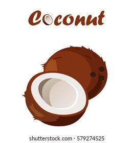 Very high quality original trendy vector seamless pattern with coconut