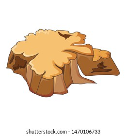 Very old tree stump icon. Cartoon of very old tree stump vector icon for web design isolated on white background