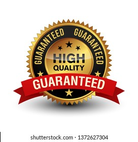 Very powerful golden color 100% high quality guaranteed badge with red ribbon on top.