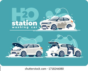 Very thorough washing of the car with foam at the washing station. Cleaning the vehicle cabin, washing the engine and car body. Transport is clean on all sides.