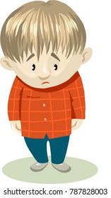 Very upset boy. Illustration