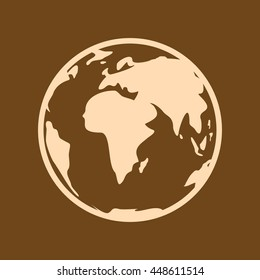 Very Useful Editable Vector icon of  on coffee color background. eps-10.