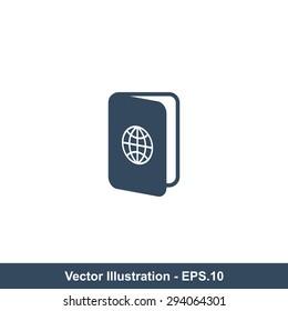 Very Useful Icon Of Passport. Eps-10.