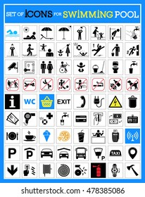 Very useful and usable set of premium quality icons for swimming pools.