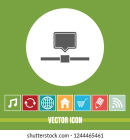 Very Useful Vector Icon Of Computer Network with Bonus Icons. Very Useful For Mobile App, Software & Web.