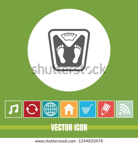 Very Useful Vector Icon Gym Scale Stock Vector (Royalty Free