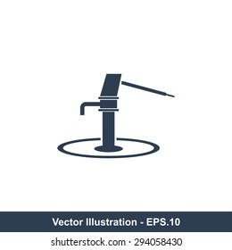 Very Useful Vector Icon Of Hand Pump. Eps-10.