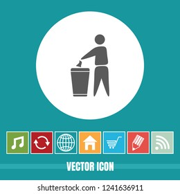 very Useful Vector Icon Of keep your city clean with Bonus Icons Very Useful For Mobile App, Software & Web