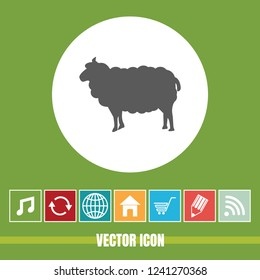 very Useful Vector Icon Of Sheep with Bonus Icons Very Useful For Mobile App, Software & Web