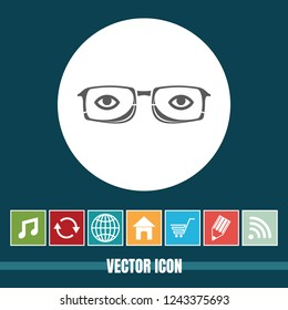 very Useful Vector Icon Of Specs with Bonus Icons Very Useful For Mobile App, Software & Web