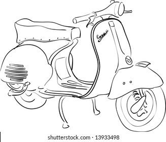 Vespa classic 1955