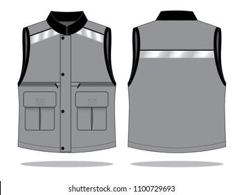 Vest design vector(Grey/Black)