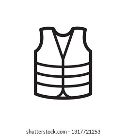 vest icon in trendy flat style