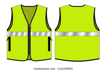 Vest Tang Top for Template  : Reflective Safety