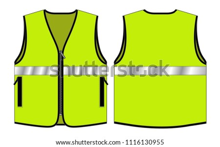 vest tang top template reflective safety stock vector royalty free