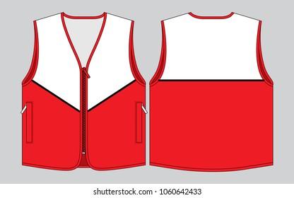 Vest Tank Top Design (Red/White)