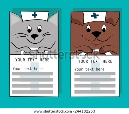 vet information card templates business card stock vector royalty