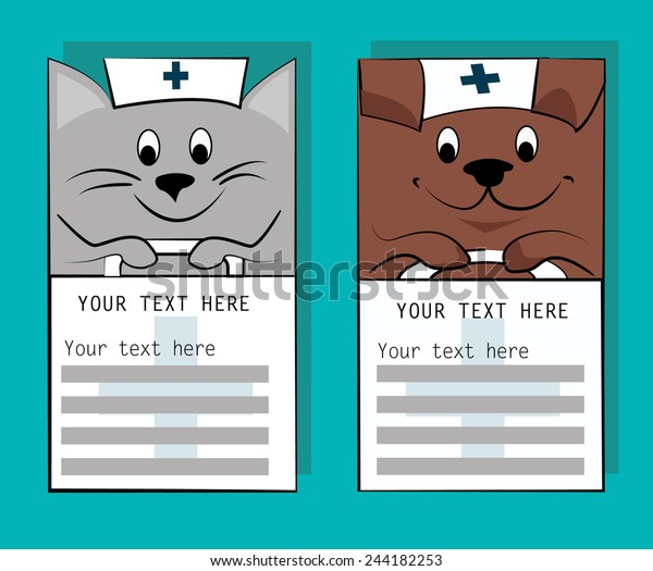 photo about Information Card Templates identified as Vet Articles Card Templates Company Card Inventory Vector